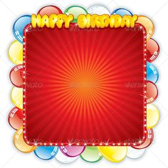 Happy Birthday Card. Festive Vector Template  #GraphicRiver         Happy Birthday Card. Festive Vector Template   - vector illustration with simple gradients   - vector graphics with CMYK colors for print   - zip file contains images: AI, CDR, EPS, JPG   Keywords: insignia, kid, contrast, alphabet, font, lit, special, bill, yearly, lights, message, wish, office, ten, years, children, casino, childhood       CELEBRATION COLLECTION                                               SPORT…