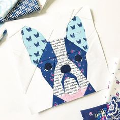 $6.00 French Bull Dog paper piecing pattern*** provides pattern and instructions to sew your own French Bull Dog block that measures 10 x 10 finished. (((See below for printing info prior to purchasing))) The pattern includes pattern pieces for the French Bull Dog block as well as some brief foundation paper piecing pattern instructions/how tos, as well as my foundation paper piecing tips and tricks. Youll be able to make at least 6 different versions just by changing the ears, as well a...