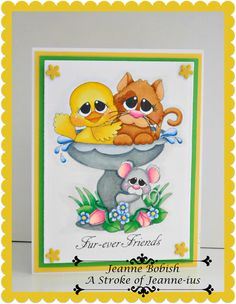 A Stroke of Jeanne-ius  Papercrafting: Fur-Ever Friends Clean and Simple Friendship Card