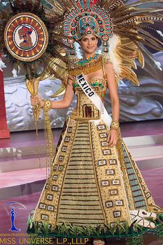 Lupita Pano: traje tipico de srta mexico 2010