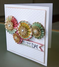 Lou Collins - Pretty Paper and Chipboard Stories: a couple of cards...