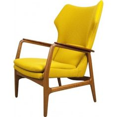 "Bovenkamp ""wing"" armchair in teak and oak, Aksel Bender MADSEN - 1960s"