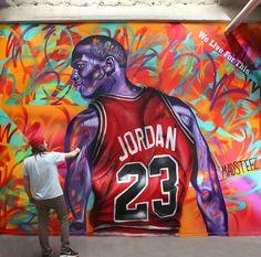 new Bulls-era Michael Jordan by Madsteez in San Francisco, CA, 3/15 (LP)
