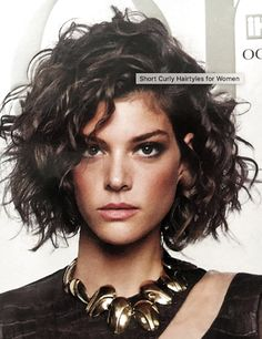 Stylish Curly Hair Styles Ideas For Women 2019 - Curly Bob Hairstyles Short Curly Hairstyles For Women, Curly Hair Styles, Curly Hair With Bangs, Curly Bob Hairstyles, Hairstyles With Bangs, Wavy Hair, Short Hair Cuts, Natural Hair Styles, Latest Hairstyles