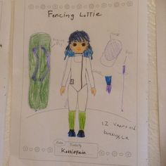 Lottie Outfit Design Competition - Kassiopeia O'Melay, from Berkeley, California, has created a fencing outfit for Lottie. What an brilliant idea. We love this outfit. Thanks for sharing! :)