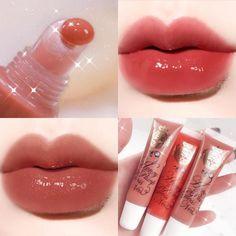 Gloss Labial, Plumping Lip Gloss, Matte Lip Gloss, Peach Lip Gloss, Kawaii Makeup, Cute Makeup, Makeup Kit, Skin Makeup, Korean Eye Makeup