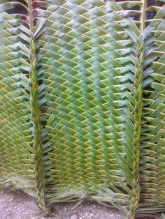 Lifou avril 2014 | danielle et georges fumex à Nouméa Flax Weaving, Weaving Textiles, Weaving Art, Basket Weaving, Palm Frond Art, Palm Fronds, Leaf Crafts, Diy And Crafts, Leave Art