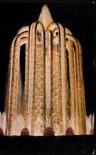 EXPOSITIONS EXPO ART DECO 1925  CACTUS WATERFALL ILLUMINATED POSTCARD