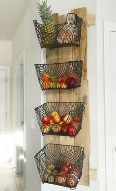 Interior Design Diy, Diy Furniture, Diy Kitchen Storage, Wood Pallets, Diy Interior, Diy Wall, Cute Kitchen, Diy Furniture Building, Diy Kitchen