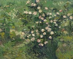 Art of the Day: Van Gogh, Roses, April 1889. Oil on canvas, 33 x 41.3 cm. 国立西洋美術館 National Museum of Western Art, Tokyo.