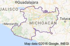 jos mara arizaga carta geogrfica del obispado de michoacn en 1863 michoacn pinterest