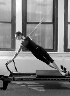 Pilates reformer exercises.