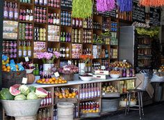 This is Bill's in Brighton. I love the 'farm shop' feel it has. Inspiring displays of flowers and local produce