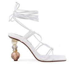 Vegan Leather, High Heels, White Gold, Jewels, Sandals, White Wardrobe, Jamaica, Street Style, Products