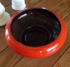 Frankoma Red Bowl by ShopOLatte on Etsy