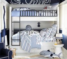 Discover boys room ideas and inspiration at Pottery Barn Kids. Shop our favorite boys bedrooms for furniture, bedding, and more. Boys Nautical Bedroom, Kids Bedroom Boys, Kids Bedroom Furniture, Baby Furniture, Boy Room, Kitchen Furniture, Nautical Theme, Rustic Furniture, Antique Furniture