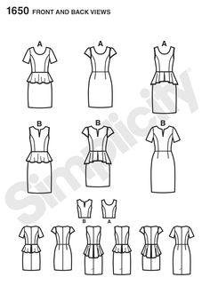 Simplicity Creative Group - Misses' & Miss Petite Dress Project Runway Collection