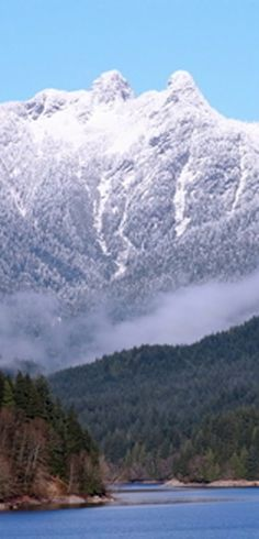 The Lions, overlooking Capilano Lake on Vancouver's North Shore in British Columbia, Canada • photo: Jean-Pierre (J-P) Forest