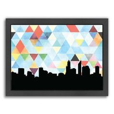 Americanflat PaperFinch Designs Perth Triangle by Amy Braswell Framed Graphic Art Size:
