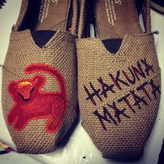 Lion King painted TOMS