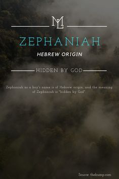 "Character Name: Zephaniah Hebrew origin meaning ""Hidden By God"" – Baby Ideas Cute Baby Names, Unique Baby Names, Cool Names, Baby Names And Meanings, Names With Meaning, Rare Words, New Words, Rare Names, Frases"