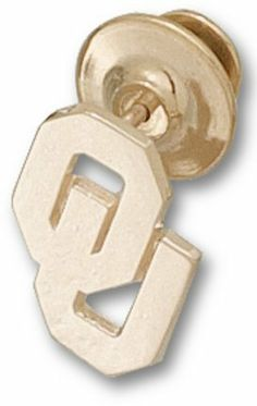 """Oklahoma Sooners 5/8"""" """"OU"""" Lapel Pin - Gold Plated Jewelry by Logo Art. $45.19. You often see shirts, caps and jackets that feature logos from your favorite affiliation, phrase, hobby and sport. Now you can add high quality jewelry products to the list!You will love the exciting collections available! There are also more than 300 universities and sports teams to choose from so you can build a collection that is perfect for you.Logo Art manufactures the broadest and most elegan..."""