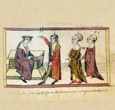 1504 Das Volkacher Salbuch - Eine illustrierte Rechtsordnung - In der Stadt [folio 424r]
