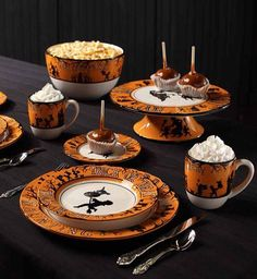 williams sonoma 2015 halloween full moon plates set 4 malaria addams castle nevermore 1303 epitaph cemetery road nevermorland pinterest