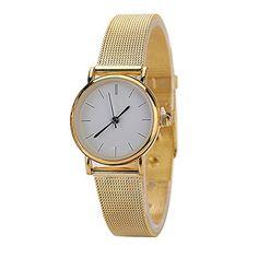 Mode Damen Quarz Armbanduhr Analog mit Rund Gehäuse Gold Netzband Legierung Armbanduhr Trend für Paar - http://uhr.haus/sanwood/mode-damen-quarz-armbanduhr-analog-mit-rund-gold