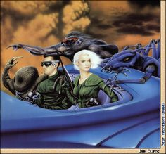 Illustrations and paintings of fantasy art and science-fiction art by the artist Jim Burns