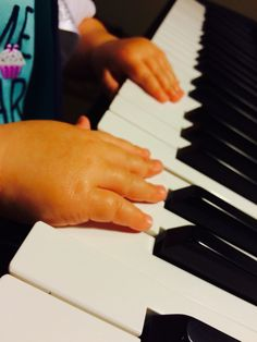 Baby Piano My nieces chubby fingers, so adorable!!  By: Hailey