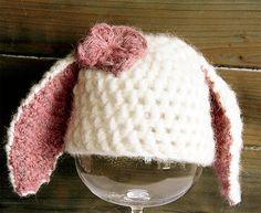 Baby Hat Bunny Rabbit for Newborn pictures  by ForLittleAngels, $30.00