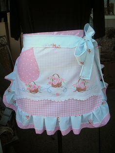 pink vintage inspired apron
