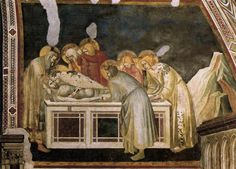 Pietro Lorenzetti (c. 1280 - 1348) Entombment c. 1320 Fresco Lower Church, San Francesco, Assisi, Italy