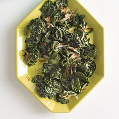 Made- Wilted Kale with Toasted Shallots | I liked this one, John didn't. I cooked the shallots 2x longer to brown more.