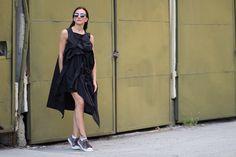 Asymmetric Drape Dress LOOSE PLUS SIZE Dress Beach by ConceptStyle