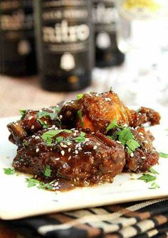 Sweet, Spicy, and Sticky Chicken Wings
