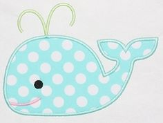 Whale 2 Applique - 3 Sizes! | Featured Products | Machine Embroidery Designs | SWAKembroidery.com