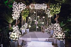 This beautiful gated entrance served as a major focal point for the décor.Photo Credit: Joy Marie Photography