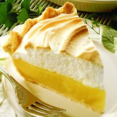 """Still a favorite---Magic Lemon Pie . created in the early this pie was touted as """"magic."""" Adding lemon juice to Eagle Brand creates a rich, creamy filling, without cooking, that is easy to make, delicious every time and never fails! Lemon Pie Recipe, Lemon Recipes, Pie Recipes, Sweet Recipes, Dessert Recipes, Cooking Recipes, Mom's Recipe, Lemon Meringue Pie Recipe Condensed Milk, Recipe Photo"""