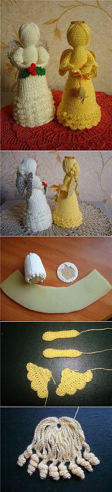 angels crochet tutorial - crafts ideas - crafts for kids