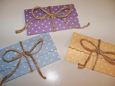 Tied Up With String Gift Card Holders