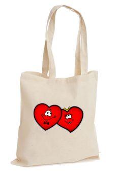 Romantik İki Kalp – Sevgiliye Hediye Bez Çanta - Şu An Sadece 14,90 TL! Online Siparişe Özel Tasarımlar, Mağazalarda Yok! - Kapıda Ödeme - Süper Baskı ve Penye Kalitesi