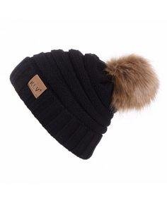 Womens Hat-Knit Turban Beanie Headwear Head Earmuffs Snow Ski Caps for  Women - Black f99067cb25