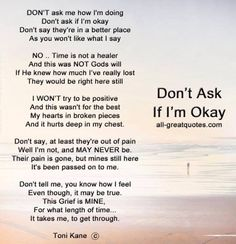 poem don't ask if I'm okay