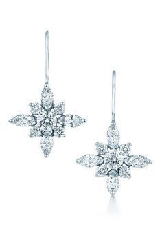 Kwiat Diamond & Platinum Star Earrings available at #Nordstromweddings