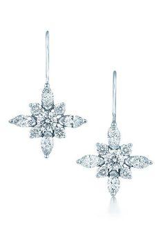 Kwiat Diamond & Platinum Star Earrings available at #Nordstromweddings