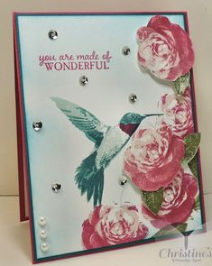 Stampin' Up; stampin up; picture perfect stamp set; video tutorial; two step stamping; Christine's Stamping Spot