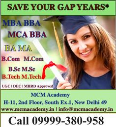 Best Distance Learning Education in India. Offered by MCM Academy Institute. It's Best Distance Learning Education Institute for distance courses |fast track mode Course | one sitting degree Course | graduation & post graduation Course | Degree in one year course every degree course UGC|DEC| AICTE Approved University. Now enroll your admission 2017 in MCM Academy. Call me:- 09999380958 / 858