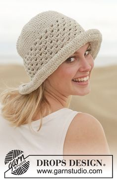 Summer fun and sweet in this #crochet hat by #DROPSDesign #ss2014